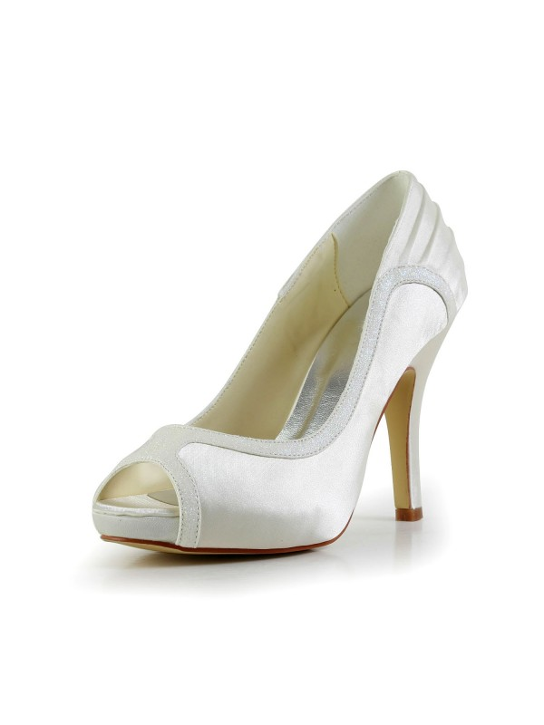 Amazing Satin Stiletto Heel Wedding Shoes
