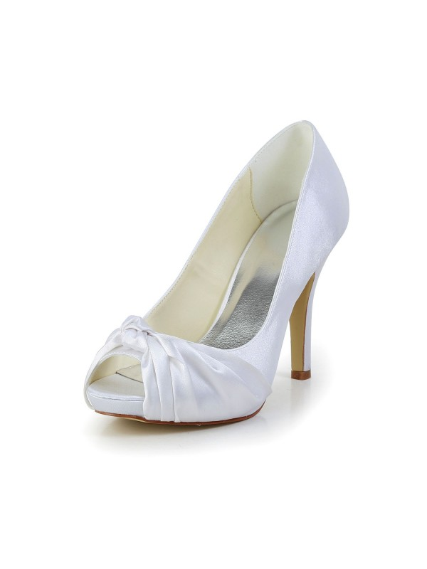 Gorgeous Satin Stiletto Heel Peep Toe Shoes