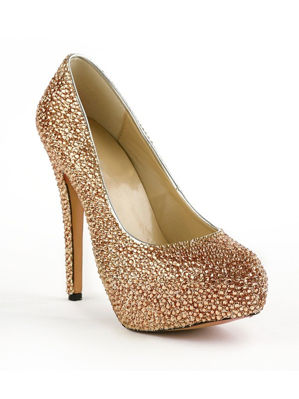 Women's Closed Toe Stiletto Heel Platform With Rhinestones Platform Shoes