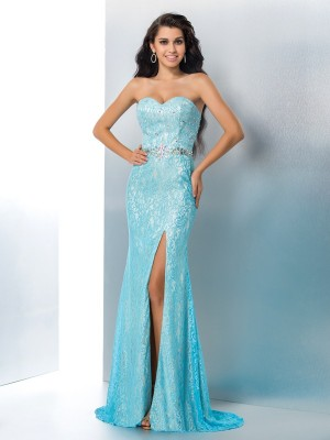 Sheath Sweetheart Lace Sweep/Brush Train Perfect Gown