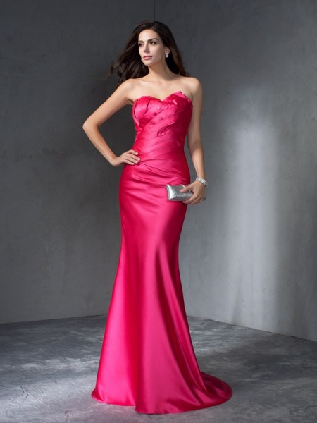 Trumpet/Mermaid Sweetheart Satin Dress