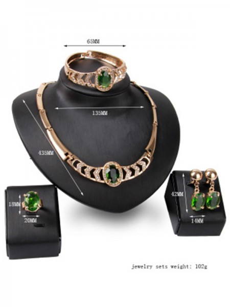 Luxurious Alloy Ladies's Hot Sale Jewelry Set