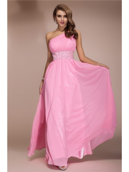 Sheath/Column One Shoulder Chiffon Dress