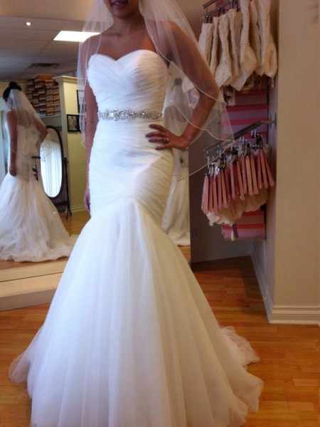 Gorgeous Mermaid Sleeveless Sweetheart Floor-Length Beading Tulle Wedding Gown