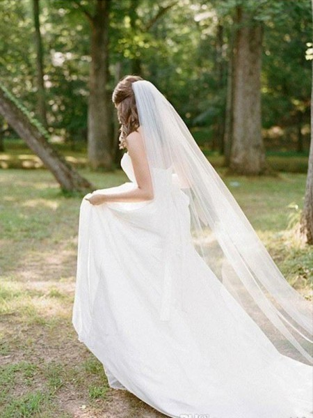 Elegant Tulle Long Wedding Veil
