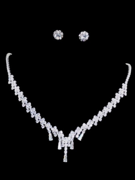 Korean Trending Rhinestone Ladies's Jewelry Set