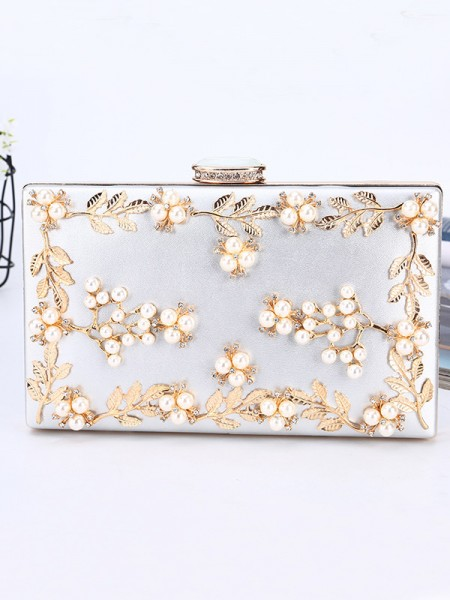 Luxurious PU Party Handbags With Beading