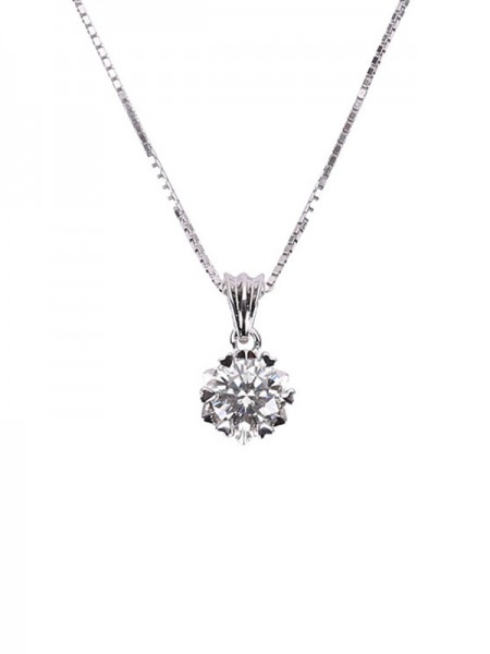 Simple S925 Silver Ladies's Necklaces