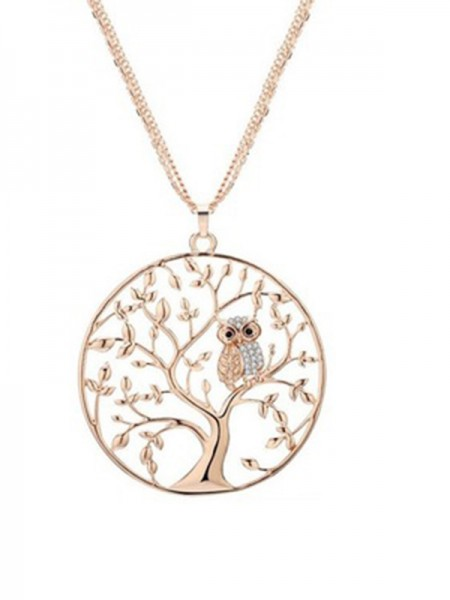 Beautiful Alloy Ladies's Necklaces With Tree