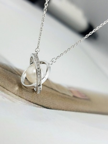 Ladies's Elegant S925 Silver Necklaces